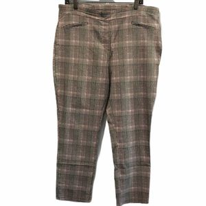 Black/red checkered Lily Morgan cropped pants xlp